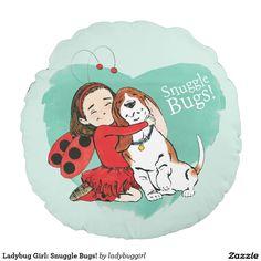 Ladybug Girl: Snuggle Bugs! Round Pillow