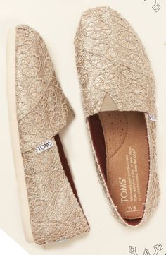 Kick off the holiday season with a little sparkle and a discount. Today only (12/3/14), enjoy 20% off these Gold Glitter Crochet women's Classics as part of TOMS' 12 Days of Giving.