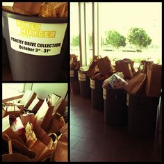 As part of October's World Hunger Relief efforts, we're hosting a Pantry Drive benefitting Project Hope.