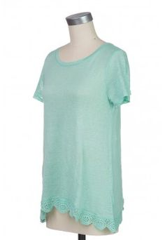 Type 2 Simply Beautiful Top in Mint