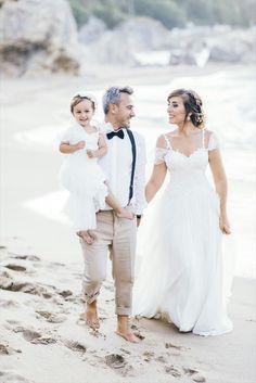 Wedding anniversary with our princess ❤ Sea side wedding photo shooting