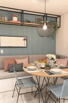 Home Decor Breakfast Nook Bench Seating Small Dining 25 Ideas For 2019 The Illogical Use Of Logic Wi Dining Nook, Dining Room Sets, Dining Room Design, Dining Tables, Breakfast Nook Bench, Breakfast Tables, Breakfast Ideas, Sala Grande, Bedroom Wall Colors
