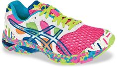 Asics Gel Noosa Tri 7 running shoes for women -- funky and functional!