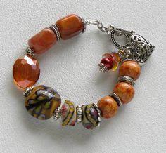 Poppy Handmade Beaded Bracelet by bdzzledbeadedjewelry on Etsy, $35.00