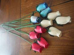 #Craftshout #WoodenRose https://www.etsy.com/listing/225852017/artificial-flowers-wooden-rose-crafting