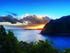 Pacific Morning Beach and Hawaii Sunrise
