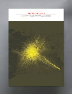 "Visualization of taxi traffic. Part of ""Sense of Patterns"" - visualizing mobility data in public spaces."