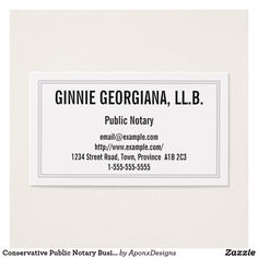 Shop Conservative Public Notary Business Card created by AponxDesigns. Business Card Design, Business Cards, Card Designs, Letter Board, Public, Lipsense Business Cards, Card Patterns, Name Cards, Visit Cards