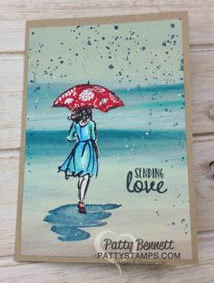 I have been having so much fun playing with the Stampin' Up! Watercolor Pencils, Blender Pens and Aquapainters to color the lady images in the Beautiful You stamp set from Stampin' Up!. I recently