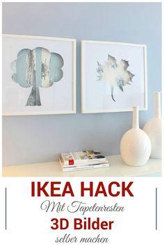 Wunderschöne 3D Bilder selber machen. Dieser IKEA Hack ist klasse! Unsere DIY Anleitung und das Video zeigen dir, wie es geht.