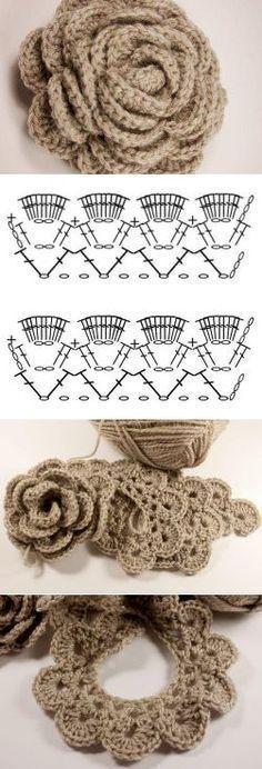 Discover thousands of images about GALA szydełku, handmade, crochet, DIY, ogrodzenia ogniw… Crochet Diy, Crochet Simple, Crochet Amigurumi, Crochet Motifs, Crochet Diagram, Crochet Chart, Crochet Stitches, Hand Crochet, Crochet Brooch