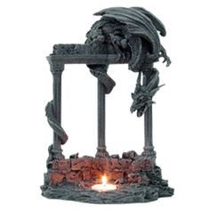 Dragon Candleholder - 94615 by Medieval Collectibles