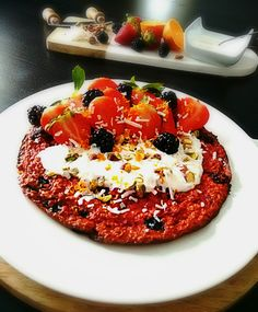 Baked Beetroot and Berry Oats