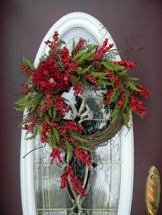 Grapevine Door Wreath DecorTimeless by AnExtraordinaryGift on Etsy, $85.00