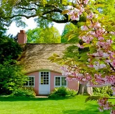 "coiour-my-world: "" ""Cherry Blossom Cottage"" ~ Kerry Gauthier """