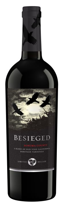 Nice haunting label makes the well-reviewed 2013 Ravenswood Besieged Red Blend Sonoma County PD
