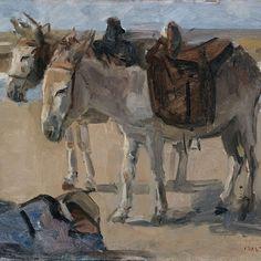 Twee ezeltjes, Isaac Israels, , 1897 - 1901 - Rijksmuseum