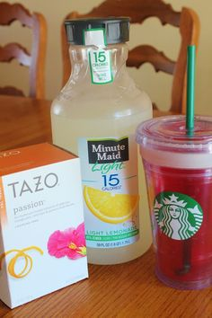 Copycat recipe for Starbucks passion tea lemonade... Great summer drink option!