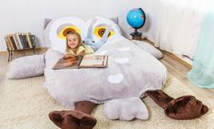 Is this the coolest bean bag for kids or what?