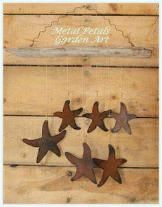 Metal Petals Garden Art    ~Starfish Chimes~    To place an order email jcmetalpetals@hotmail.com    Visit our Facebook Page: www.facebook.com/metalpetals