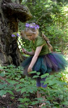 I like the way the colors are here.....Woodland Fairy Costume  SEWN tutu set  by trendylittlecreation