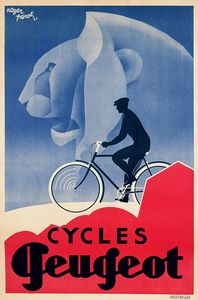 Product Description TITLE: Cycles Peugeot ARTIST: Roger Perot CIRCA: 1931 ORIGIN: France Fine art giclee print on heavy acid free archival paper using 100+ year fade resistant inks. POSTER SIZING: The