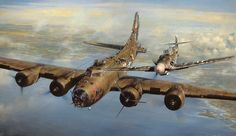 History: John D Shaw's painting A Higher Call which shows Franz Stigler and Charlie Brown in flight. How a German plane saved a failing US fighter plane in WWII.