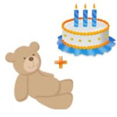 Send 1/2 Chocolate Cake and Small Size Teddy Bear to your loved ones in vizag