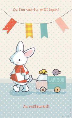 Le lapin dans la lune - Non dairy Diary - One littlebunny
