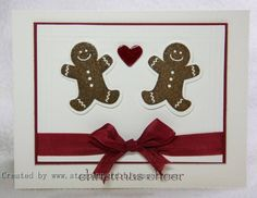 Gingerbread Love, another clean card; and she says it smells amazing. I think this would be cute on Crumb Cake cs.