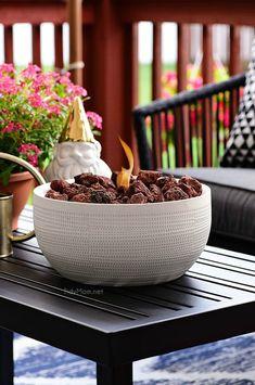 DIY Tabletop Fire Bowl #tabletop #firebowl #firepit #firepitideas #firepitdiy