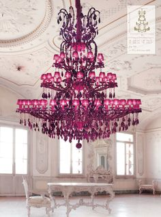 Whoa. In a grand entrance, this enormous Gorgeous chandelier would make the perfect statement.