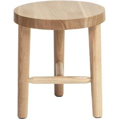 MASH Studios Milking Stool LAX Series - Standard Height (£245) ❤ liked on Polyvore featuring home, furniture, white furniture, white dining table set, white dining set, shelf furniture and white shelving