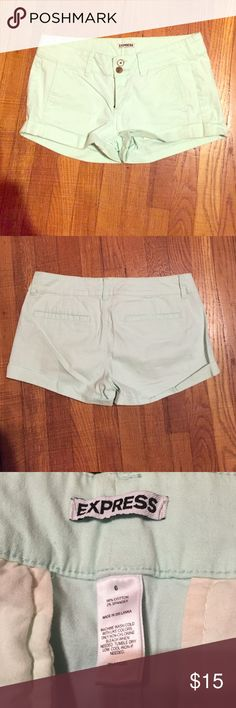 Mint Shorts Great condition. Barely worn! I have these in white and black and they are super comfortable! I just don't really wear mint Express Shorts