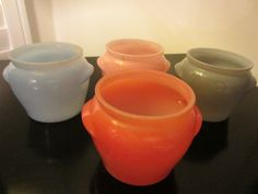 Depression Glassbake Ovenware Bowls Various Colors With Handles