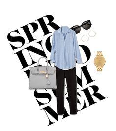 """everyday uniform"" by penny-sk on Polyvore featuring Converse, Nixon, Jennifer Zeuner, Gap and Hermès"