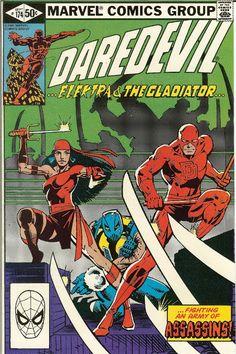Daredevil #174, Elektra, Gladiator, and NINJAS!, Art: Frank Miller