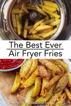 By using an air fryer, you can make homemade delicious and perfectly crispy fries without having to heat up the oven or use a lot of oil. This post has lots of tips for how to make The Best Air Fryer Fries, along with some suggestions of different ways to season them, so you can have a different flavour chip (fries) every time. Air fried means less oil, so these are a healthy alternative to normal fried chips. #fries #chips #airfryer