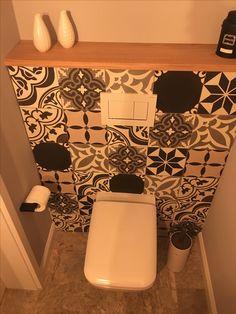 Bathrooms, House Ideas, Diy, Cement Tiles Bathroom, Guest Toilet, Bathing, House, Bathroom, Bricolage