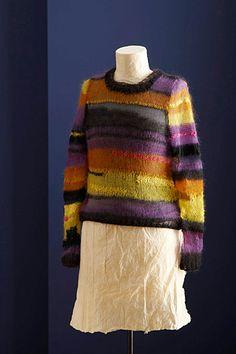 Multi-Yarn Pullover pattern from Lion Brand Yarns
