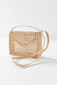 Slide View: 4: KAANAS Martinique Woven Envelope Crossbody Bag