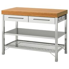IKEA RIMFORSA Work bench Stainless steel/bamboo 120 x x 92 cm The worktop is made in bamboo which is an easy-care and hard-wearing natural material. Drawer Handles, Drawer Fronts, Ikea Rimforsa, Kitchen Island Trolley, Kitchen Islands, Metal Kitchen Island, Kitchen Carts, Underfloor Heating Systems, Frame Shelf