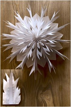 Christmas Crafts For Kids To Make Ornaments Snow Flake Halloween Crafts For Kids, Christmas Crafts For Kids, Xmas Crafts, Christmas Diy, Christmas Decorations, Paper Bag Crafts, Diy Paper, Kites Craft, Homemade Books