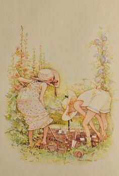 Holly Hobbie, planting a garden
