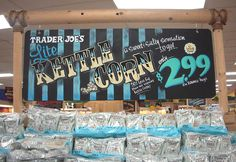 Trader Joes Kettle Corn Chalkboard Sign by sueism1, via Flickr                                                                                                                                                           Trader Joes Kettle Corn Chalkboar..