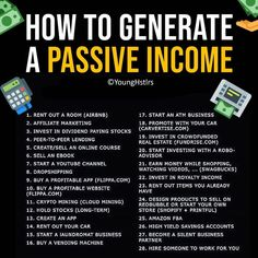 Passive income – - Topic Money - Economics, Personal Finance and Business Diary Atm Business, Business Money, Business Ideas, Online Business, Financial Tips, Financial Literacy, Financial Peace, Financial Assistance, Financial Planning