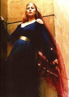 Helen Mirren as Morgana in Excalibur (1981).  36 when filmed.