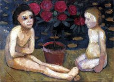 Paula Modersohn-Becker - Figurative Painting - German Expressionism - Two girls