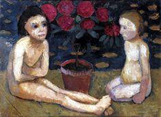 Paula Modersohn-Becker - Figurative Painting - German Expressionism - Two girls