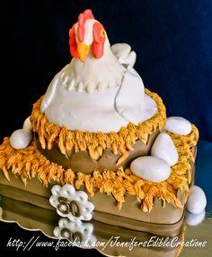 - Hen and eggs birthday cake